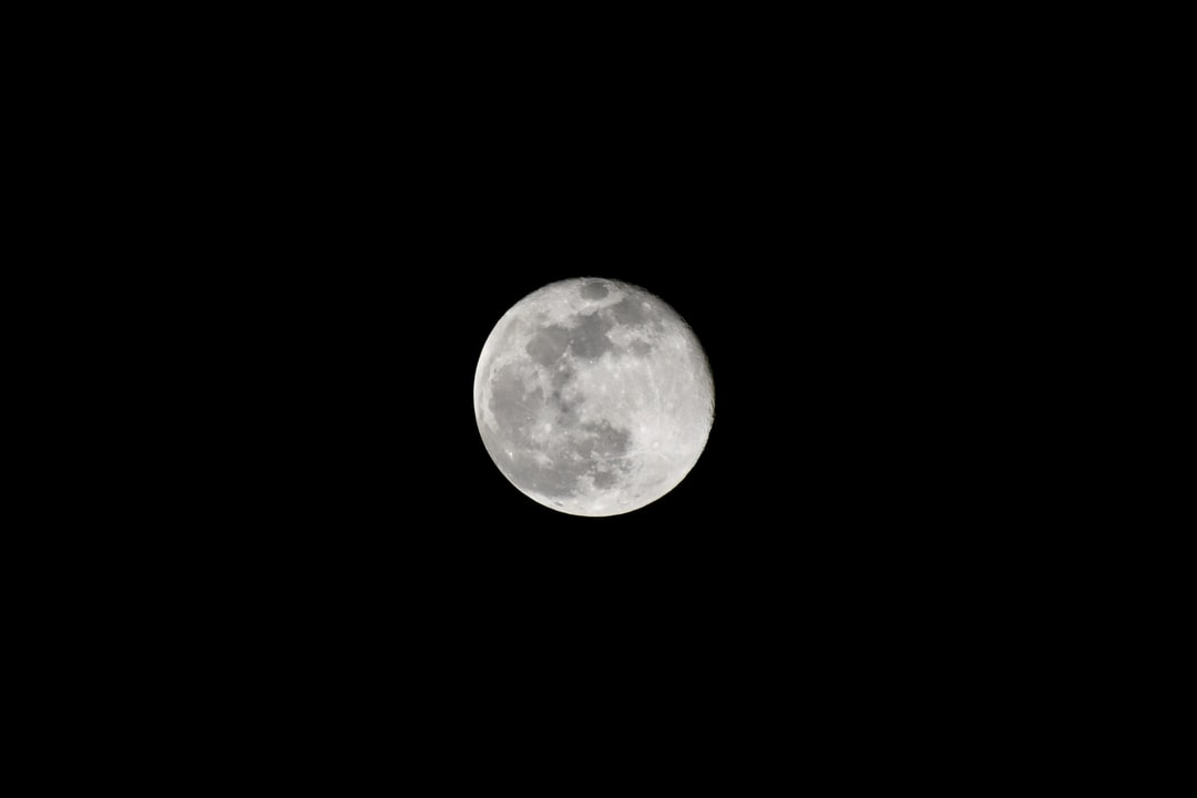A close up of the moon in the sky